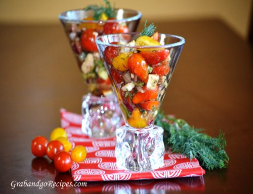 Tomato Avocado Feta Cheese Salad
