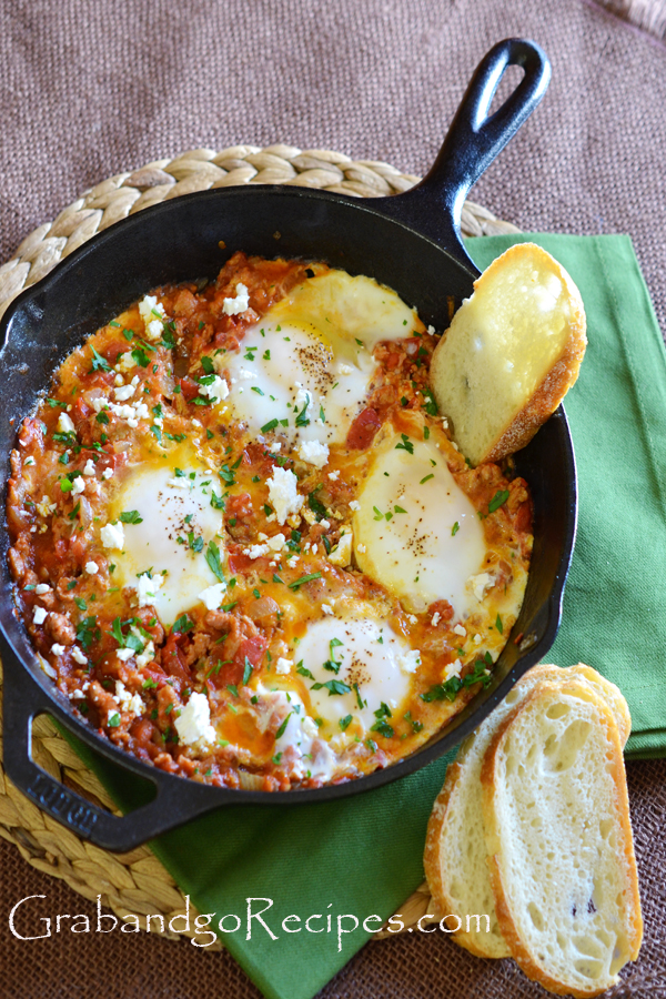 Eggs Poached in Tomato Sauce - Shakshuka