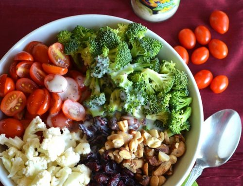 Broccoli Cauliflower Cherry Tomato Salad