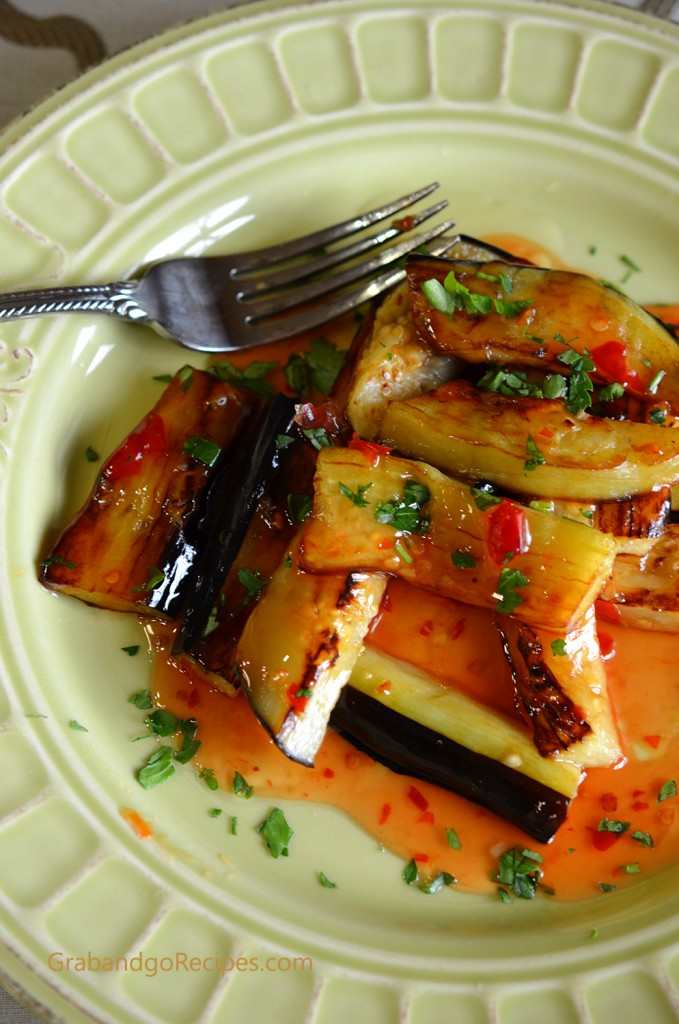 Eggplant with Sweet and Chili Garlic Sauce