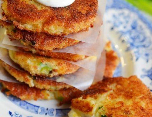 Crispy Cheesy Leftover Mashed Potato Pancakes