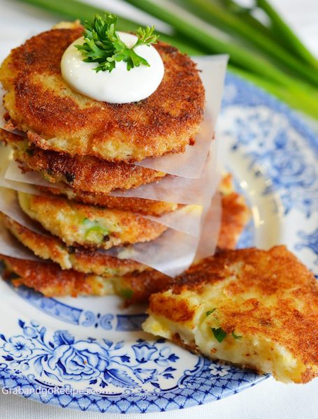 Crispy Cheesy Leftover Mashed Potato Pancakes