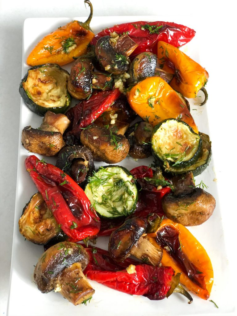 Roasted Vegetables with Garlic and Dill