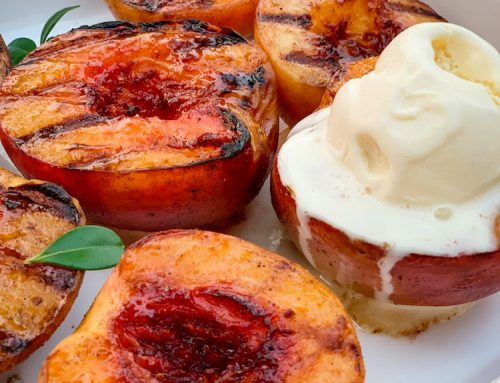 Grilled Peaches with Cinnamon and Honey