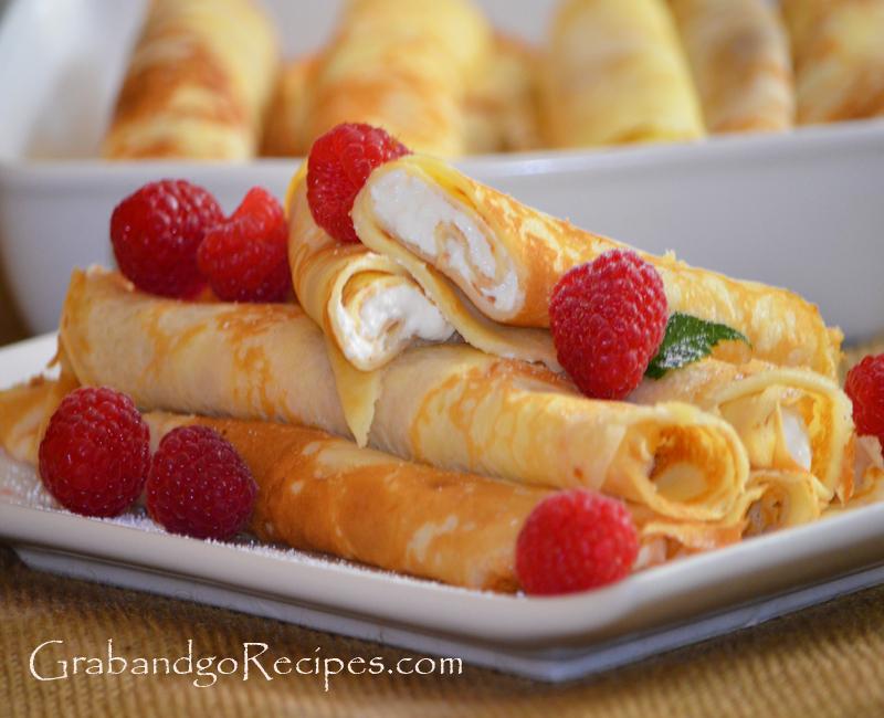 Blintzes - Nalisniki-Blinchiki with Creamy Filling