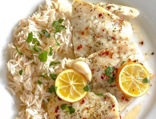 Baked Lemon Garlic Butter Cod