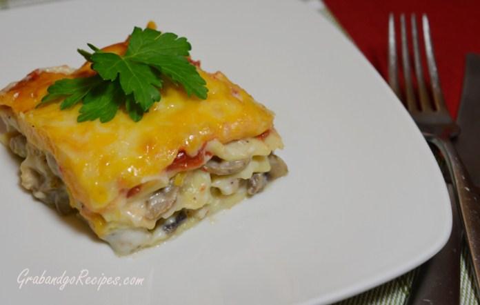 Mushroom Chicken Lasagna with Béchamel Sauce – Grabandgorecipes