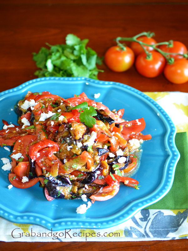 Eggplant Salad with Fresh Tomatoes and Herbs
