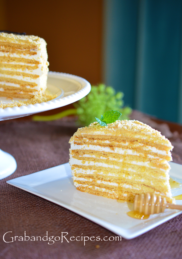 Medovik - Honey cake III- Медовик with Cream Filling
