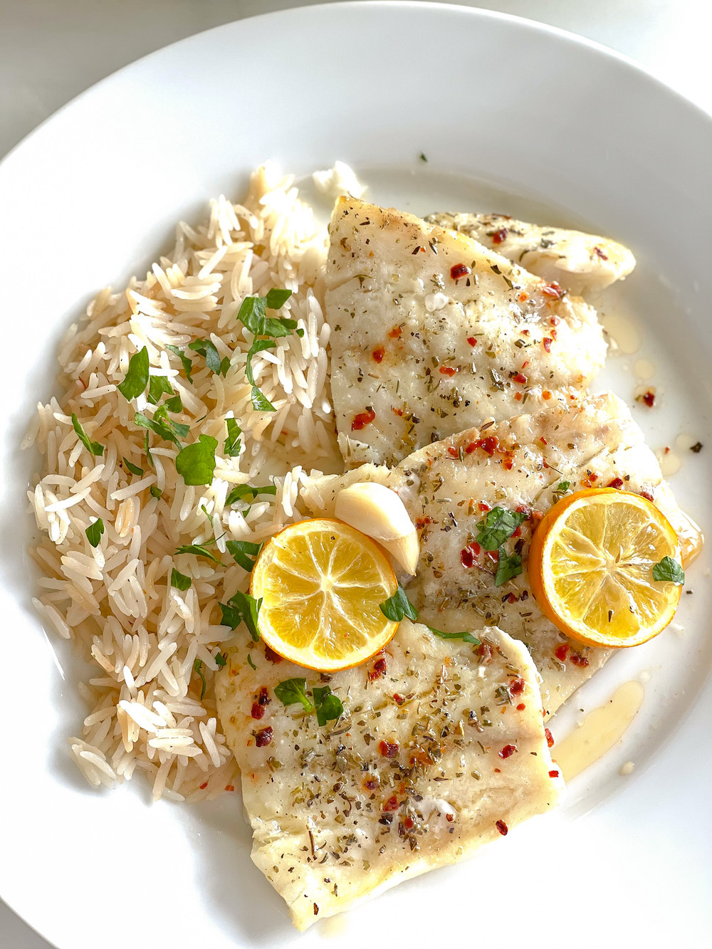 Baked Lemon Garlic Butter Cod