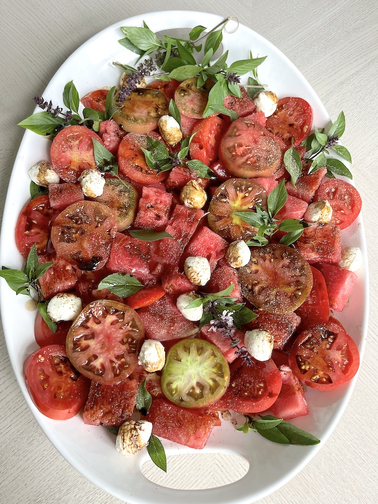 Tomato Watermelon Caprese Salad